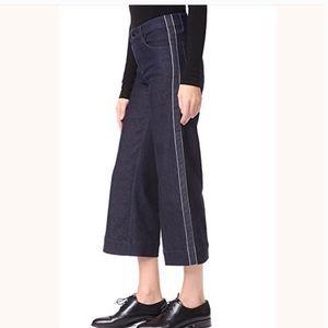 J BRAND Liza Mid Rise Crop Culotte Border Size 27